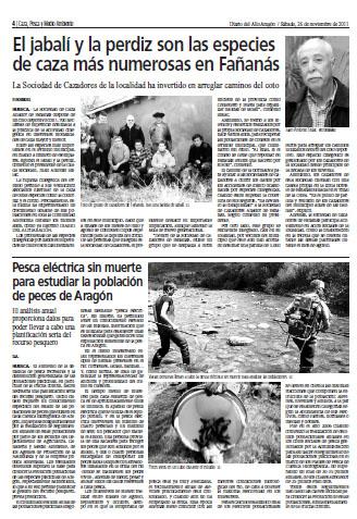 El jabalí y la perdiz son las especies de caza más numerosas en Fañanás
