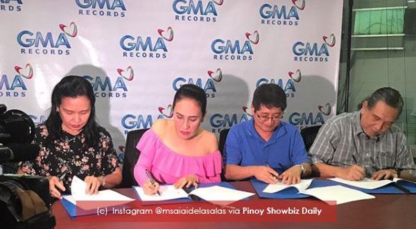Aiai Delas Alas signs contract with GMA Records