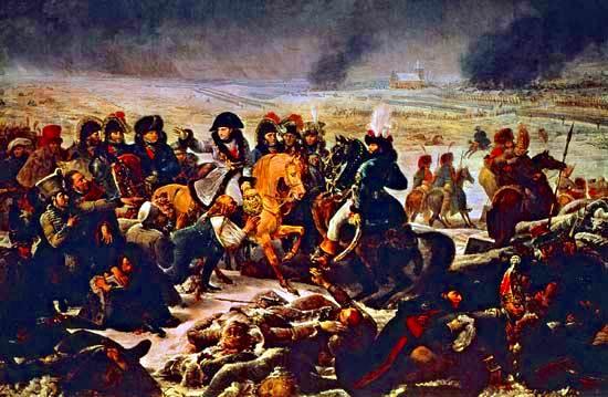 Napoleón en el campo de batalla en Eylau, febrero de 1807