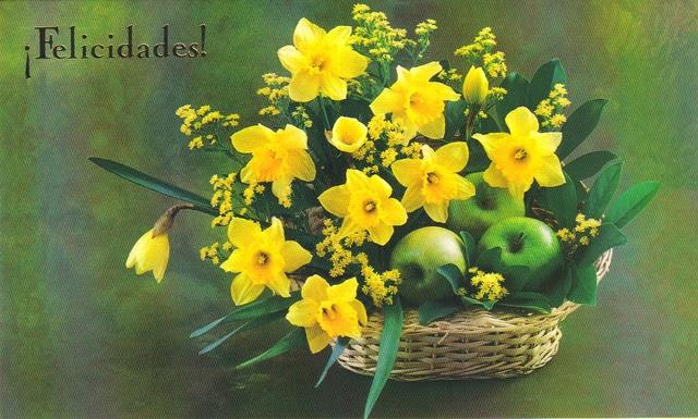 Felicitaciones De Cumpleaños Con Flores: Banco De Imagenes Y Fotos Gratis: Felicidades Con Flores