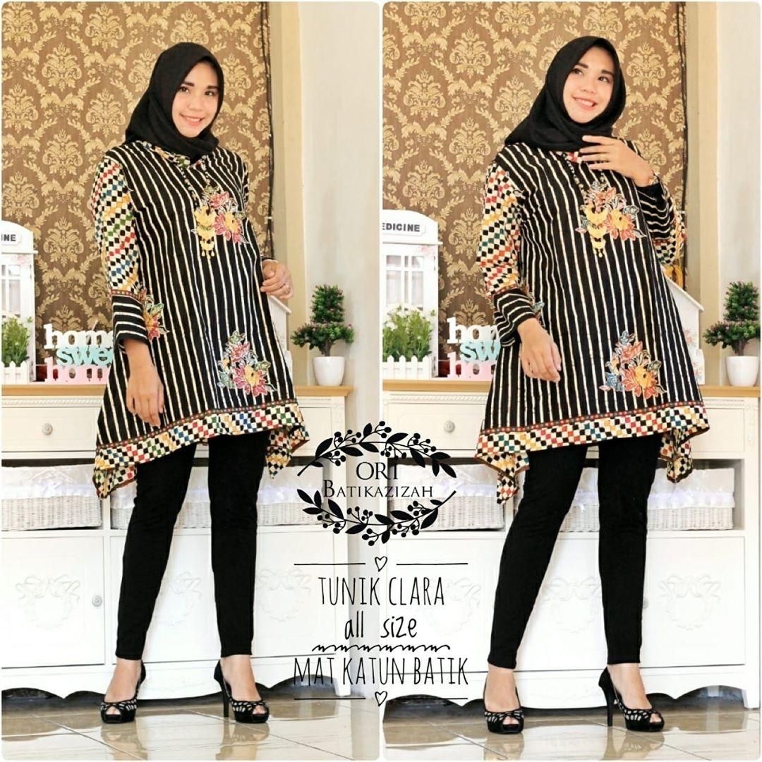 Model Atasan Baju Batik Wanita: 60+ Model Baju Batik Atasan Wanita Modern Terbaru 2019