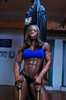 Female bodybuilder and IFBB Pro