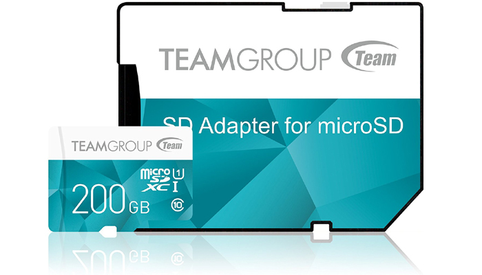 TEAM 200GB microSDカード COLOR CARD(10年保証)