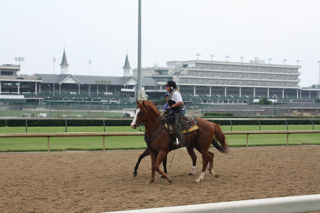 Up close experience at Churchill Downs in Louisville, Kentucky