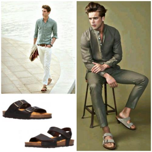 Cómo llevar sandalias de hombres y Qué modelo elegir
