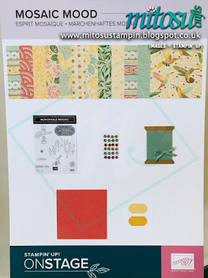 Mosaic Mood Suite NEW Stampin' Up! Products #onstage2019 Display Board from Mitosu Crafts UK