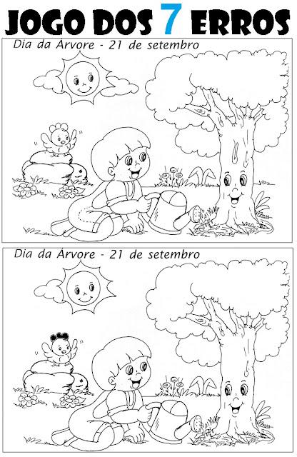 Jogo dos SETE ERROS - DIA DA ÁRVORE