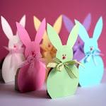 Paper Easter Bunny Egg Holders