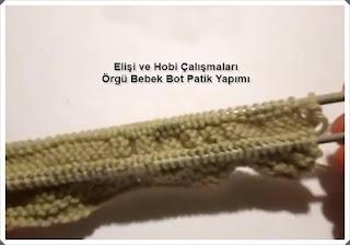 Örgü Bebek Bot Patik Modeli Yapımı, Resimli Açıklamalı, Videolu1