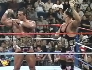 WWF / WWE - In Your House 11: Buried Alive - Owen Hart & British Bulldog retained the WWF tag team titles against The Smoking Gunns