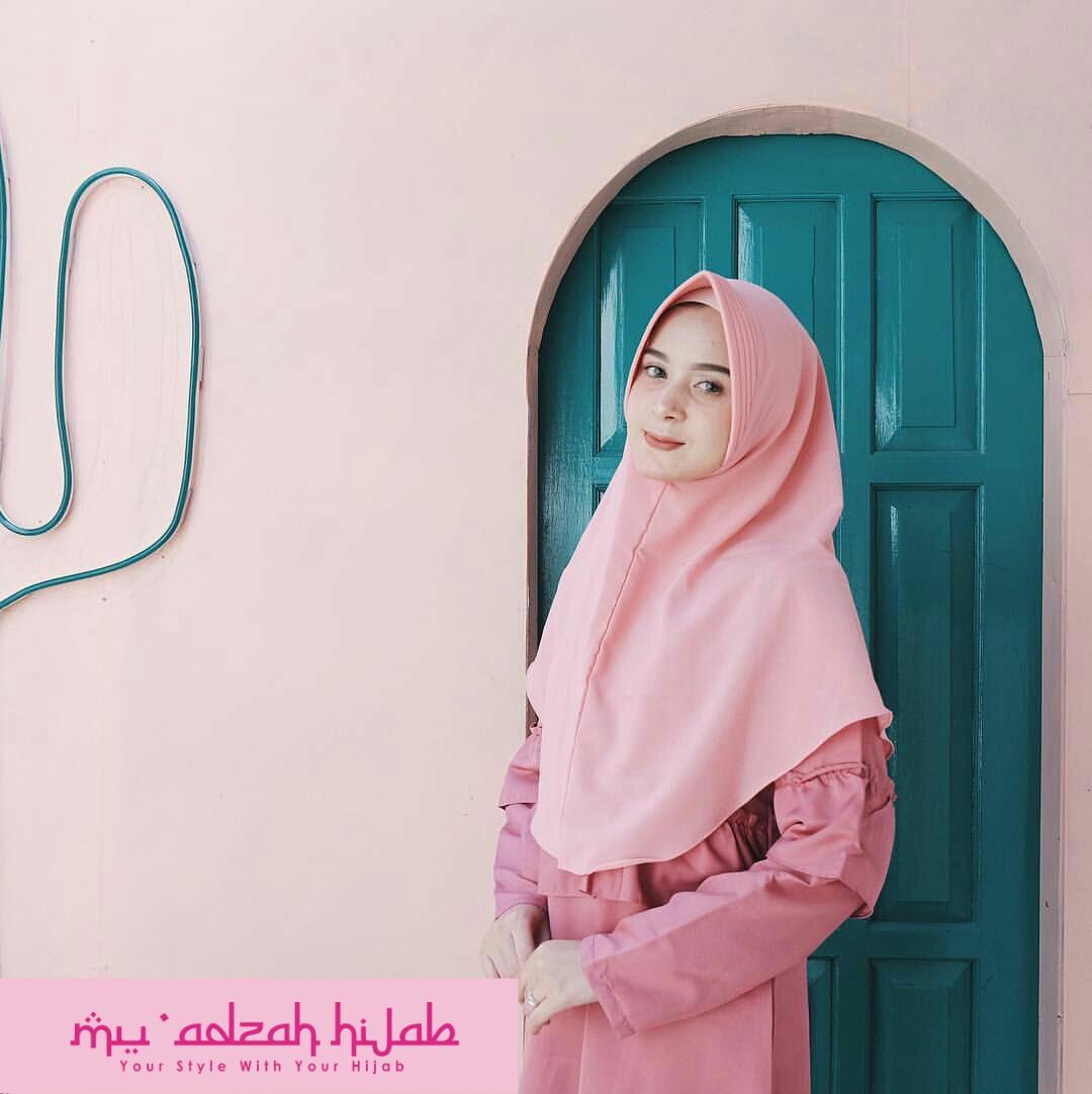 Khimar Simple Pet Mu Adzah Hijab Jilbab Murah Grosir Jilbab