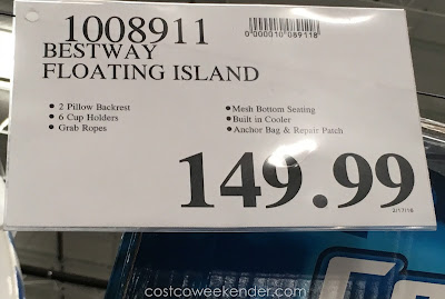 Deal for the Bestway CoolerZ Tiki Breeze Island at Costco