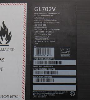 Jual Asus ROG Strix GL702VS-DS74