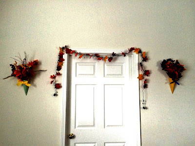DIY Lighted Fall Leaf Garland