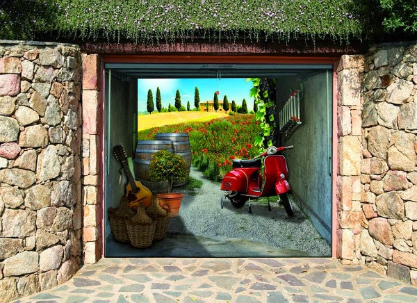 Creative 3D Garage Door Sticker Ideas | Spicytec