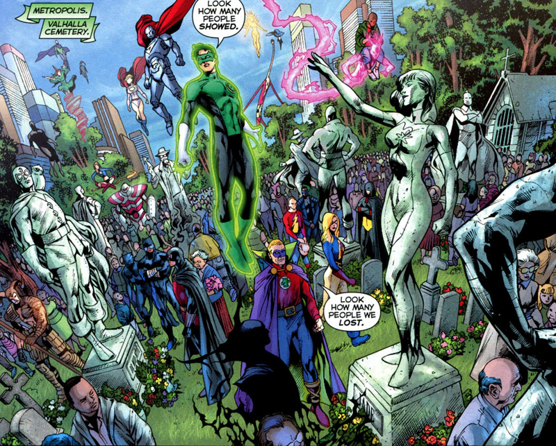 Blackest Night #1: Writer: Geoff Johns Pencils: Ivan Reis Inks: Oclair Albert Colors: Alex Sinclair.