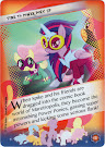 My Little Pony Time to Power Pony Up Equestrian Friends Trading Card
