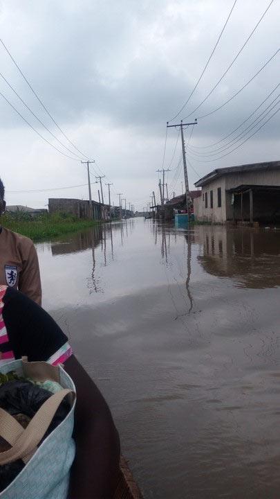 Flood runs over community in Mile 12, Lagos