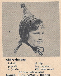 Workbasket Knitted Pixie Hat Pattern