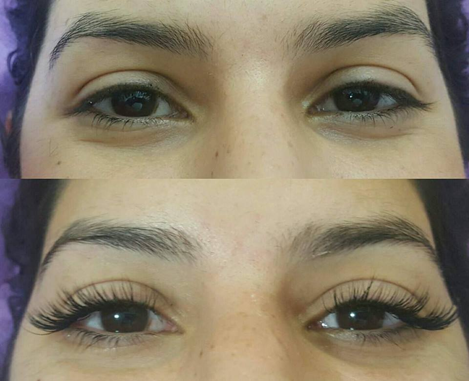 9ceef000aff Lash Extensions before and after