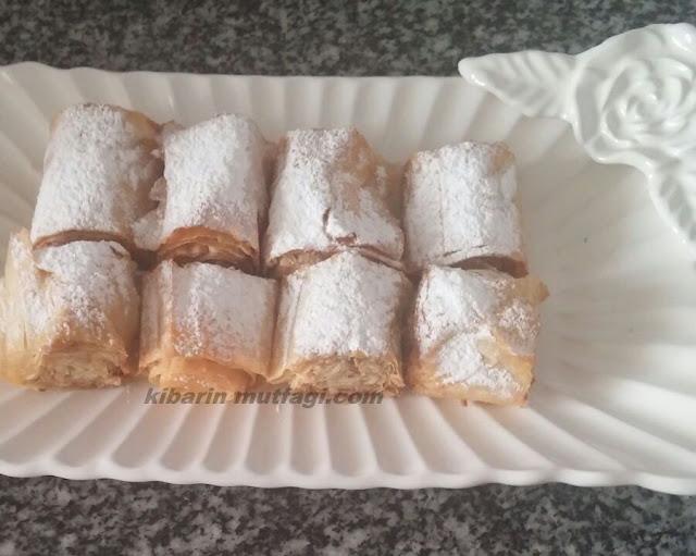 baklava yufkasından tatlı tadında çıtır kurabiye nasıl yapılır resimli anlatım Tahinli cevizli çıtır  kurabiye tarifi baklava yufkasından kurabiye nasıl yapılır
