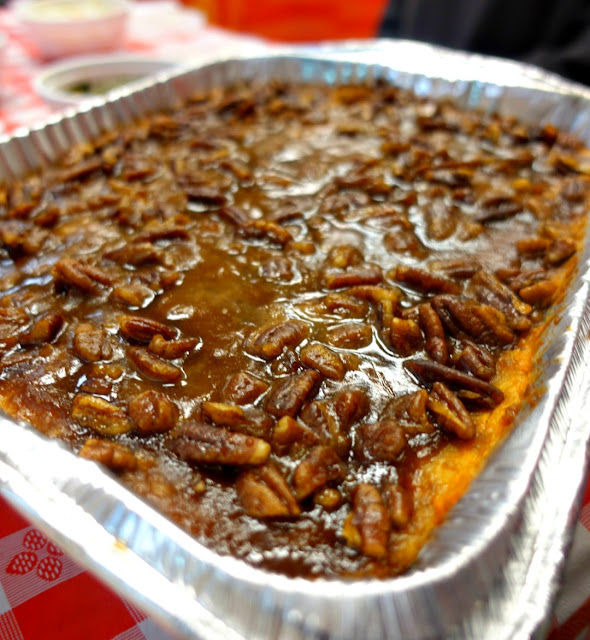 Sweets & Meats is a locally owned barbecue restaurant in Mt Washington with the best pulled chicken and sweet potato casserole I've ever tasted!!