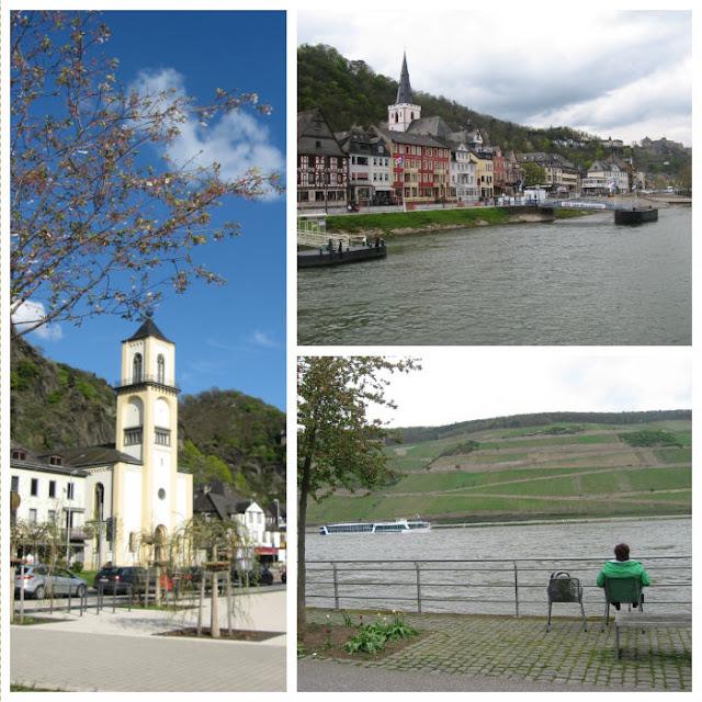 links: St. Goarshausen, oben: St. Goar, unten: Bingen