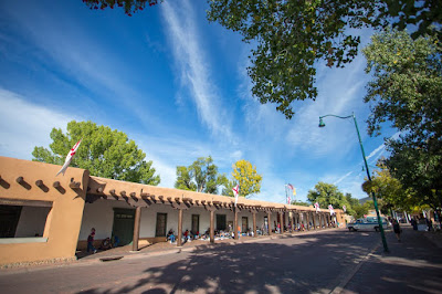 Town square Santa Fe New Mexico by Laurence Norah