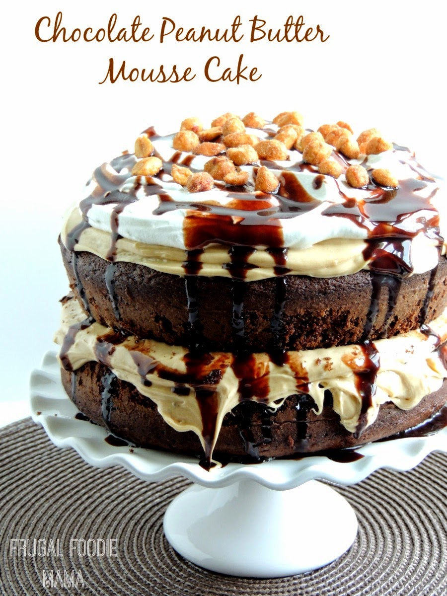 ... peanut buttery mousse, this Triple Chocolate Peanut Butter Mousse Cake