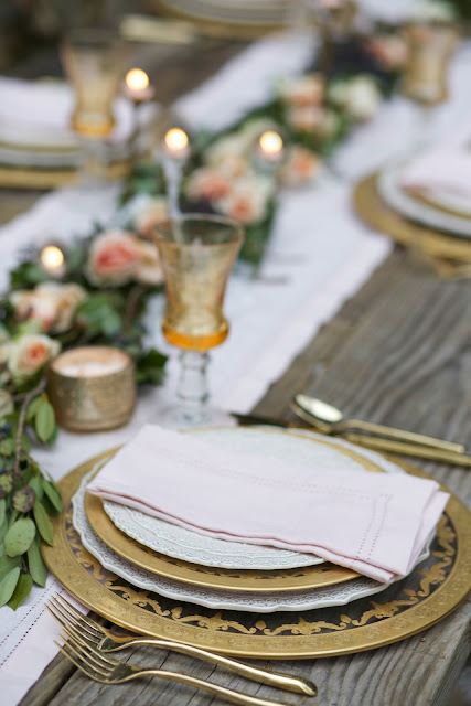 Why these blush table linens broke a rule