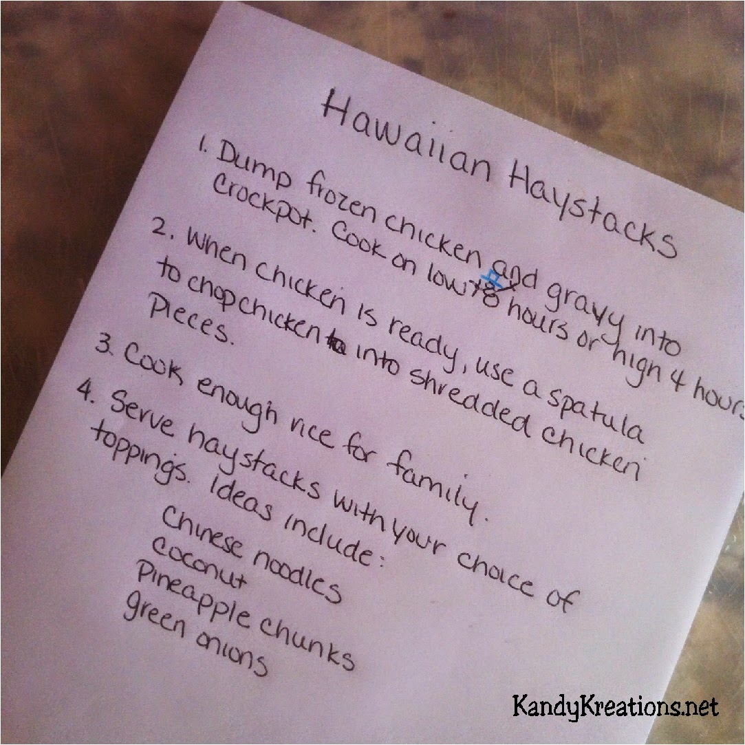 Crockpot Hawaiian Haystacks Freezer Dinner Recipe
