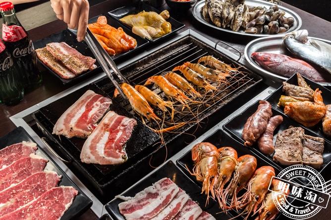 不怕你吃只怕你吃不下!超狂泰國蝦/三層肉無限量吃到飽-進吉泰國蝦海鮮炭烤吃到飽