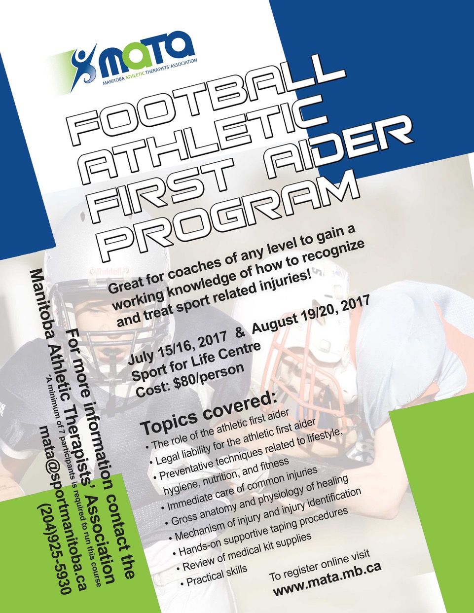 2017 Football First Aider Courses ~ Manitoba Athletic Therapists ...
