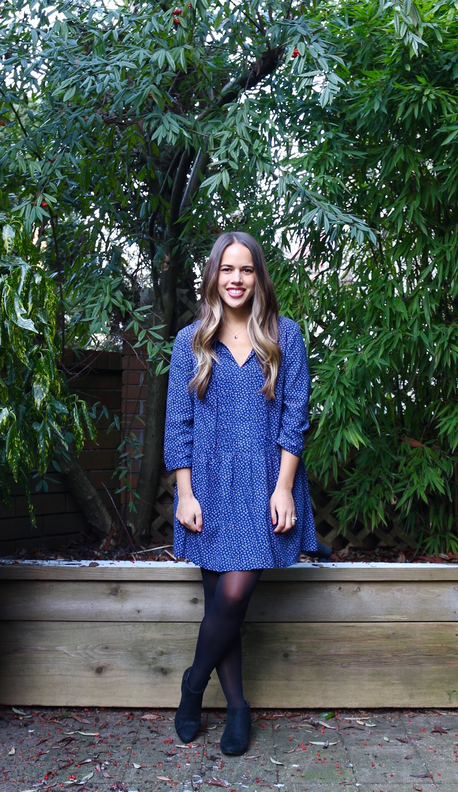 Jules in Flats - Simple Dress + Booties Work Outfit (Business Casual Winter Workwear on a Budget)