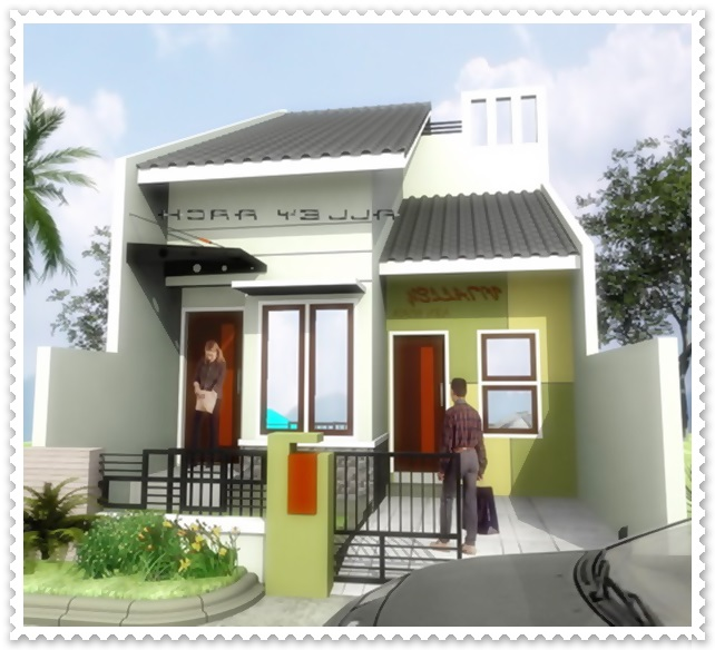 gambar pagar rumah minimalis type 45