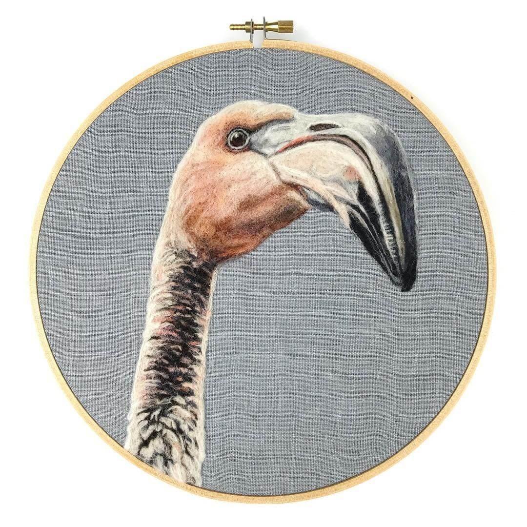 04-Flamingo-Dani-Ives-Needle-felting-Wool-and-Needle-Animal-Portraits-www-designstack-co