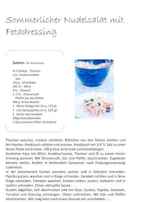 Sommerlicher Nudelsalat, Pomponetti, Rezept