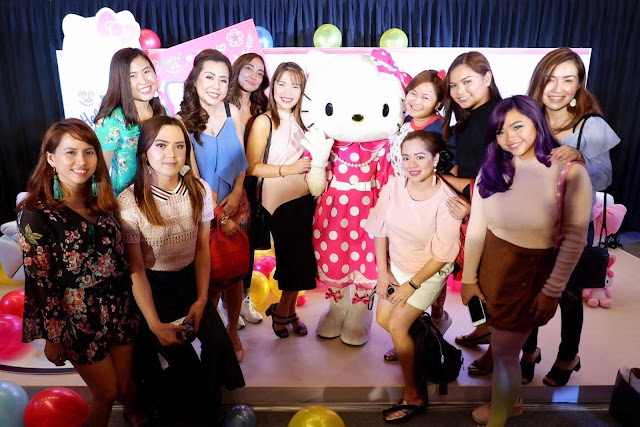 a photo of Happy Skin x Sanrio Characters  Hello Kitty, Little twin Stars and My Melody with bloggers