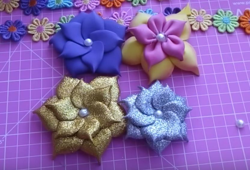7d3ef550303 Aprende con Sara  Aprende a hacer hermosas flores con foami muy ...