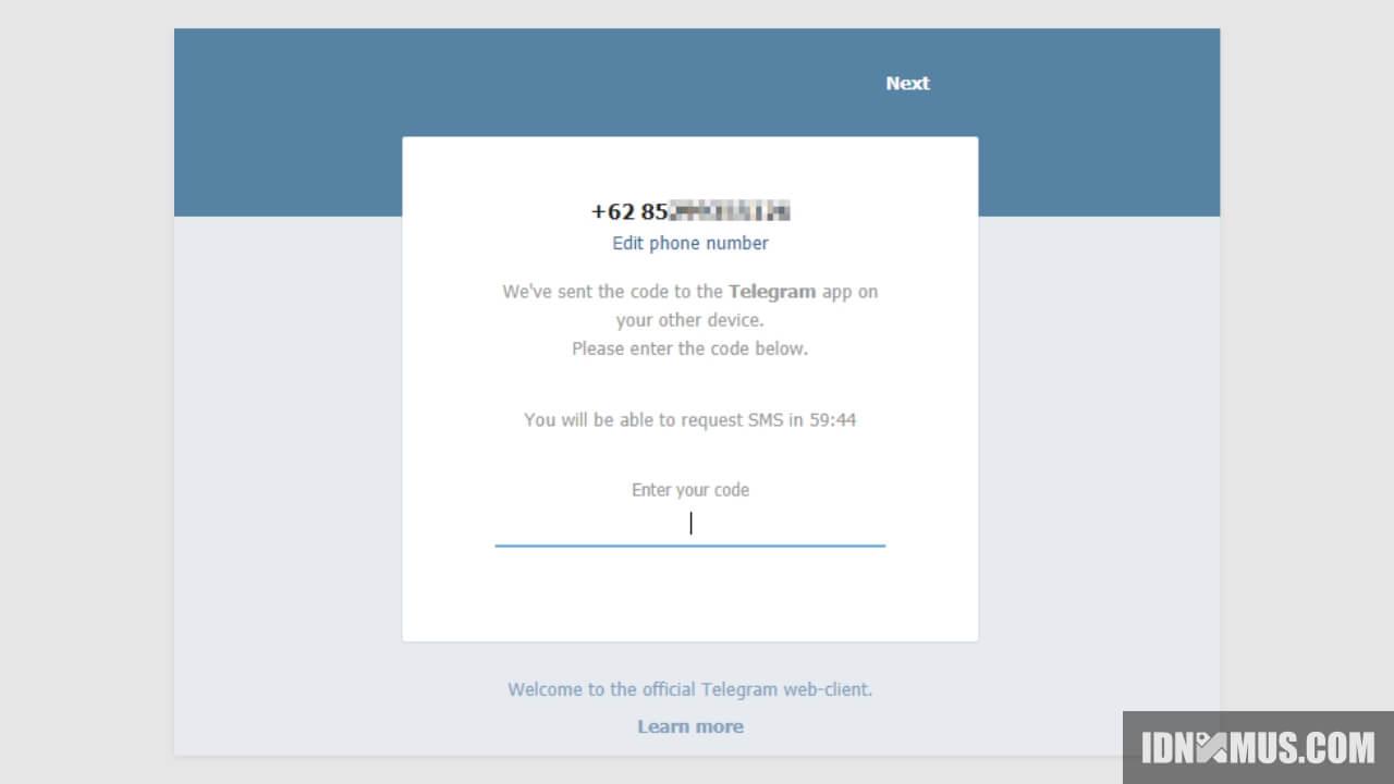Buka Telegram di PC