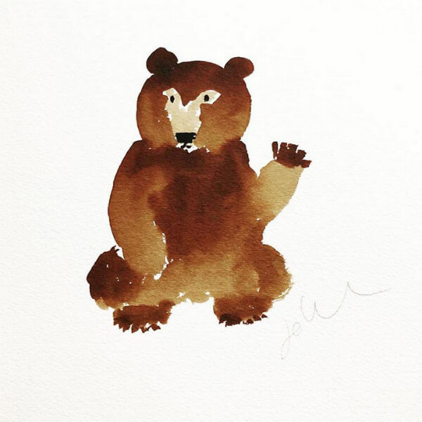watercolor bear