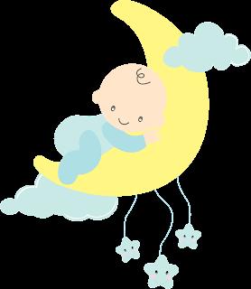 bebé para baby shower en la luna