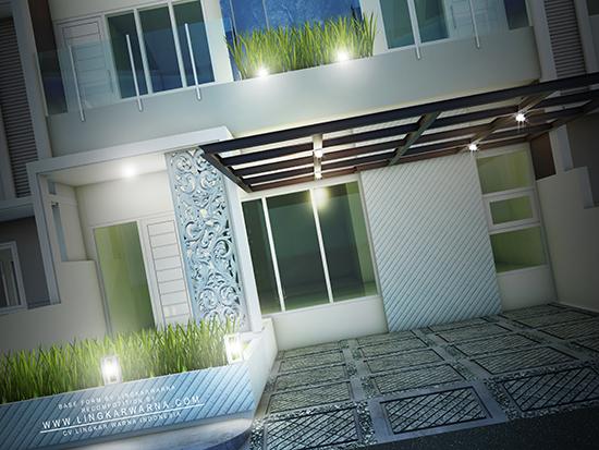 Desain rumah minimalis ukuran 8x15 meter 3 kamar tidur 3 lantai