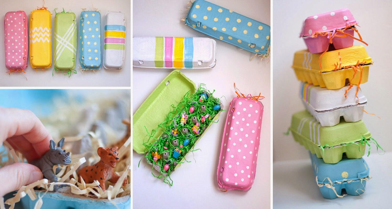 Artesanato Da Maria Figueiredo ~ Como fazer embalagem com reciclagem de caixa de ovos Artesanatos Reciclagem