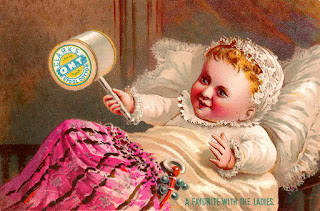 vintage advertisement sewing baby