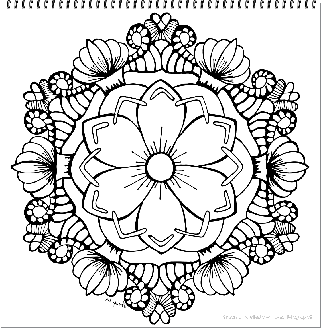 Schöne Mandala-Malvorlagen Super Qualität - Free Mandala