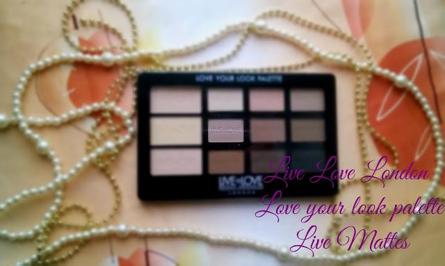 Pierwszy raz w akcji paleta 12 matowych cieni Live Love London Live Mattes- pierwsze wrażenia&makijaż