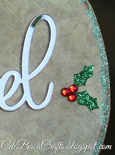 Decorative Christmas gift tag made by CdeBaca Crafts.