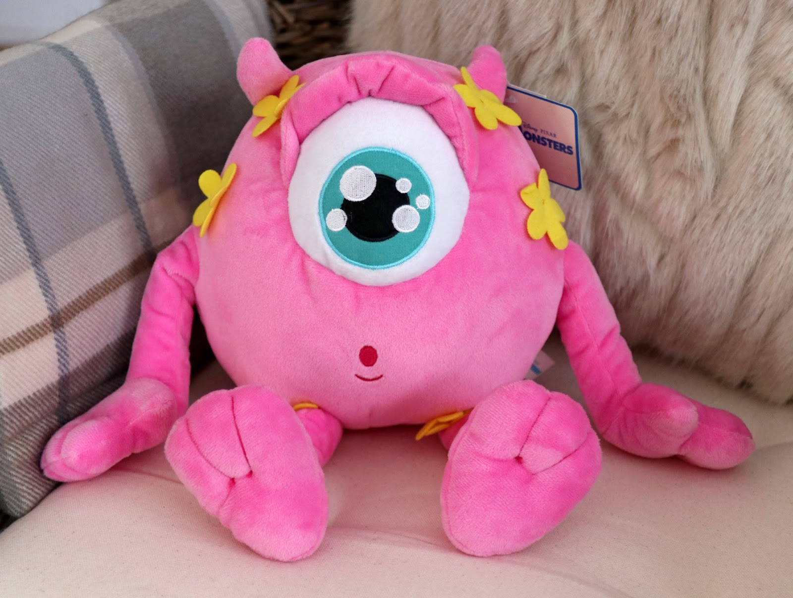 monsters university pink mike wazowski plush disney store japan