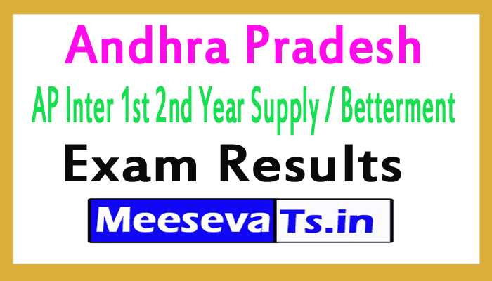 Andhra Pradesh AP Inter 1st 2nd Year Supply / Betterment Exam Results